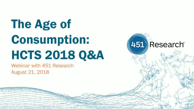 The Age of Consumption: HCTS 2018 Q&A