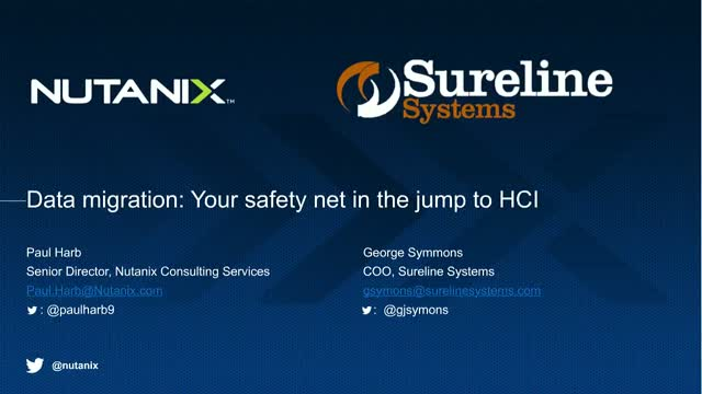 Data migration: Your safety net in the jump to HCI