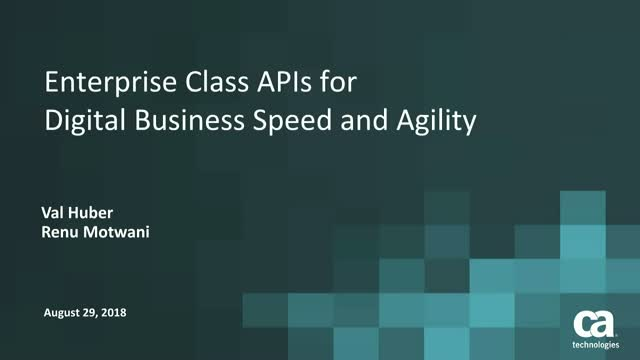 Instant Enterprise-Class APIs for Digital Business Speed and Flexibility
