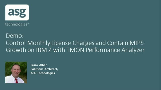 Control Monthly License Charges and Contain MIPS Growth on IBM Z with TMON PA