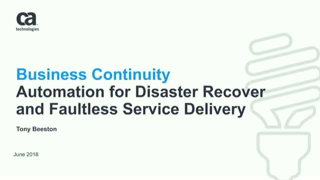 How to Automate Your Disaster Recovery Plan