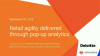 Retail agility delivered through pop-up analytics