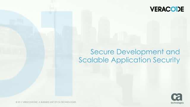 Secure Development and Scalable Application Security with CA Veracode