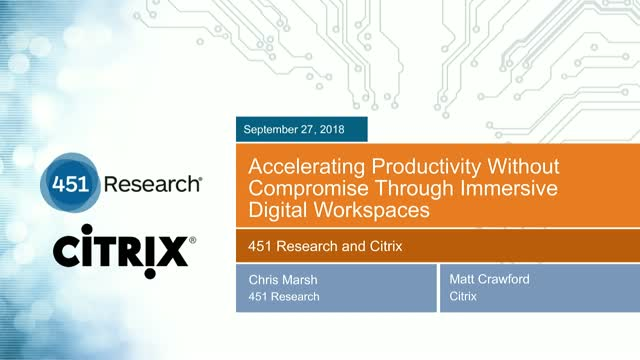 Accelerating Productivity w/o Compromise through Immersive Digital Workspaces