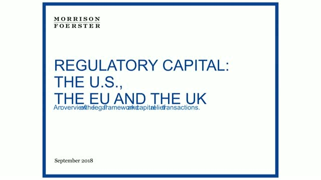 Regulatory capital relief: legal framework, expected changes and BRRD impact