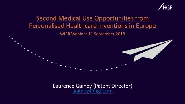 Second Medical Use Patent Opportunities from Personalised Healthcare Inventions
