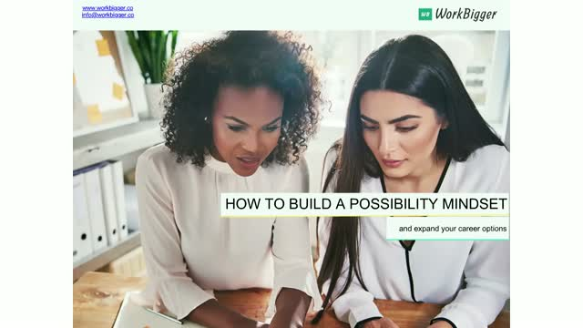 BrightTALK Masterclass Series: Building a Possibility Mindset