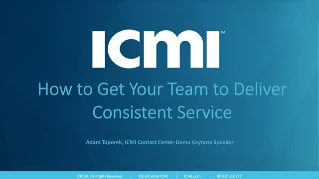 How to Get Your Team to Deliver Consistent Service