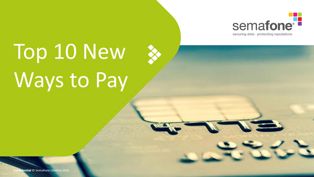 Top 10 New Ways to Pay
