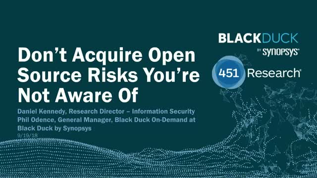 Don't Acquire Open Source Risks You're Not Aware Of