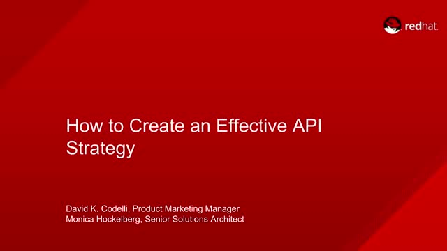How to create an effective API strategy