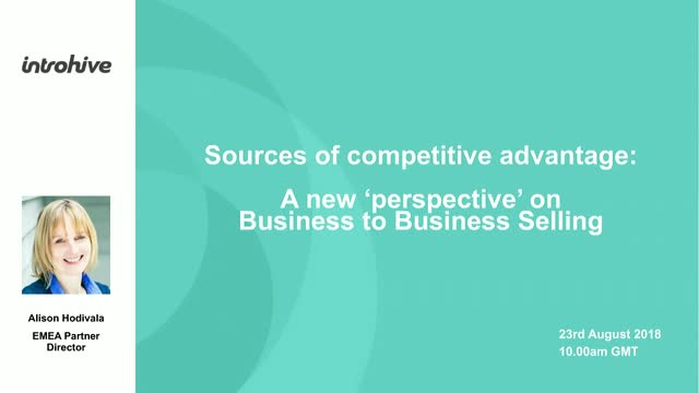 Sources of Competitive Advantage – New Perspectives of B2B Selling