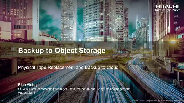 Backup to Object Storage - Physical Tape Replacement and Backup to Cloud