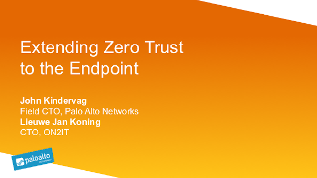 Extending Zero Trust to the Endpoint