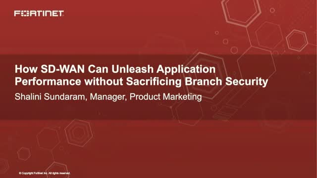 How SD-WAN can Unleash Application Performance Without Sacrificing Security