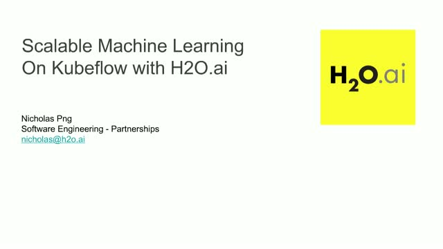 Scalable Machine Learning on KubeFlow with H2O ai