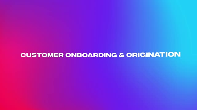 Customer onboarding and Origination for Temenos Digital Banking Solution