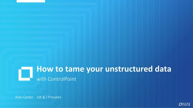 How to tame your unstructured data