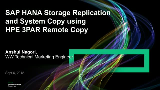 Data replication for HANA environments