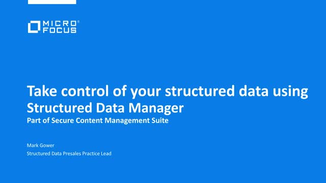How to take control of your structured data