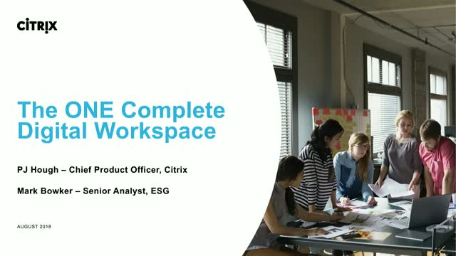 The ONE complete digital workspace is here: All apps and data unified and secure
