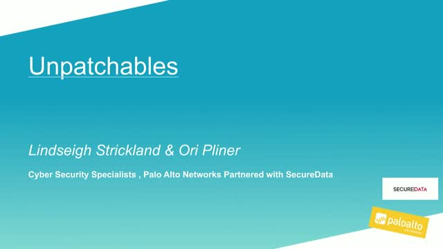 Cybersecurity Webinar LIVE: The Unpatchables
