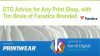 DTG Advice for Any Print Shop, with Tim Brule of Fanatics Branded