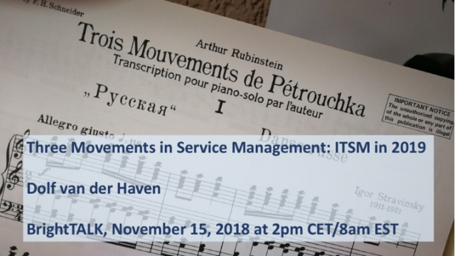 Three Movements in Service Management: ITSM in 2019