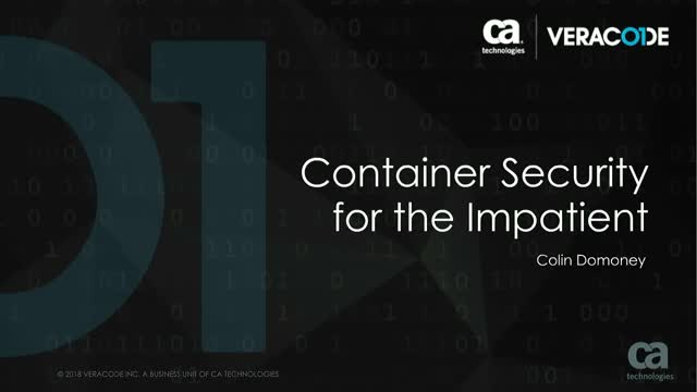 Container Security for the Impatient