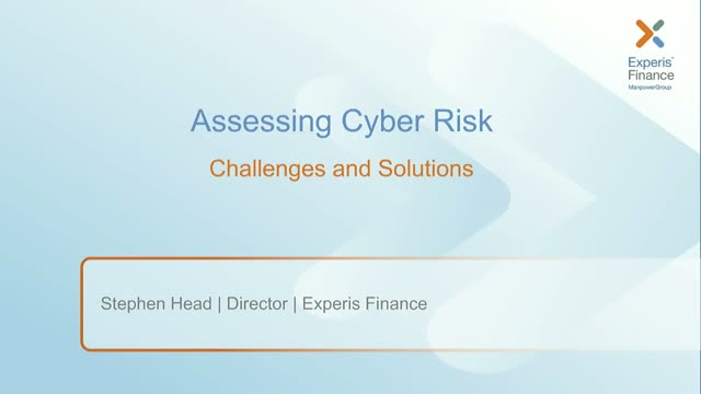 Assessing Cyber Risk - Challenges and Solutions