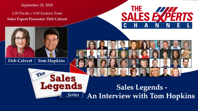 Sales Legends Series - An Interview with Tom Hopkins