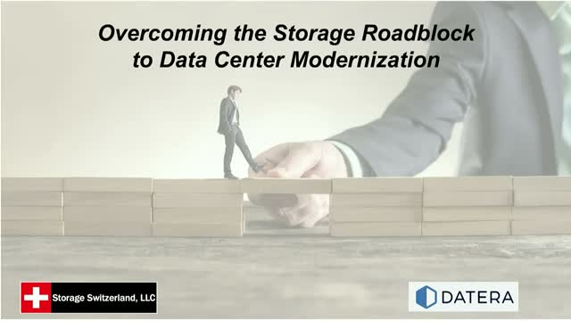 Overcoming the Storage Roadblock to Data Center Modernization