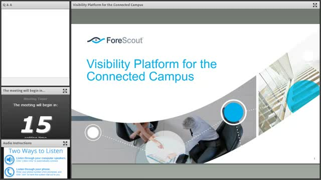 Visibility Platform for the Connected Campus