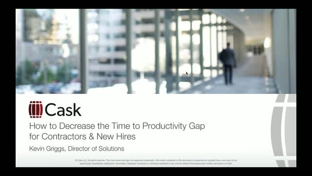 Decrease the Time to Productivity Gap for Contractors & New Hires