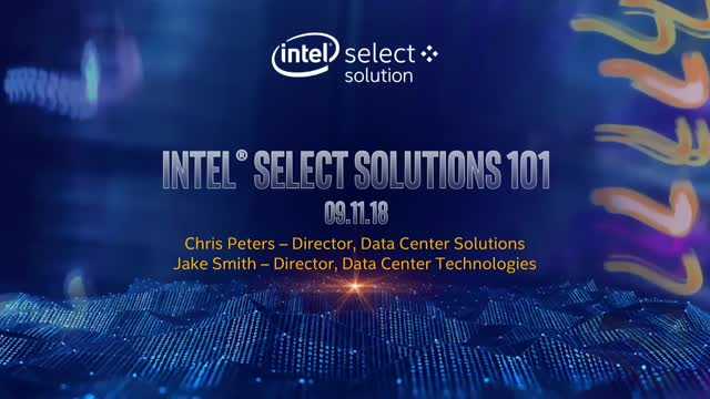 Intel Select Solutions 101