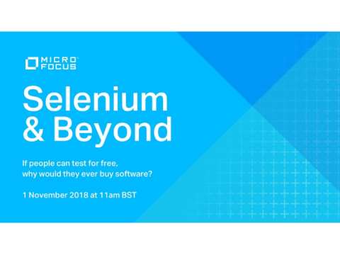 Selenium & Beyond: If people can test for free, why would they buy our software?