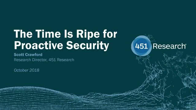 The Time is Ripe for Proactive Security