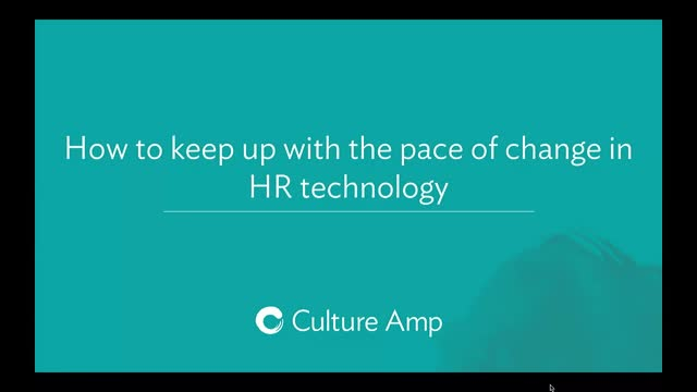 How to keep up with the pace of change in HR technology