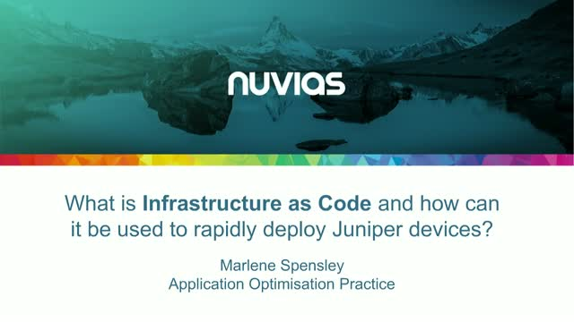 What is IaC and how can it be used to rapidly deploy Juniper devices?