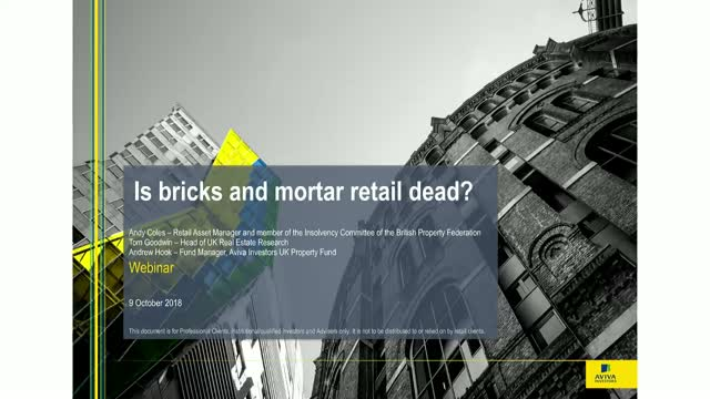 Is bricks and mortar retail dead? AI UK Property Fund Update