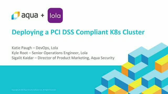 Deploying a PCI DSS-Compliant Kubernetes Cluster