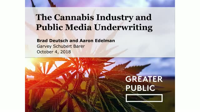 The Cannabis Industry and Public Media Underwriting