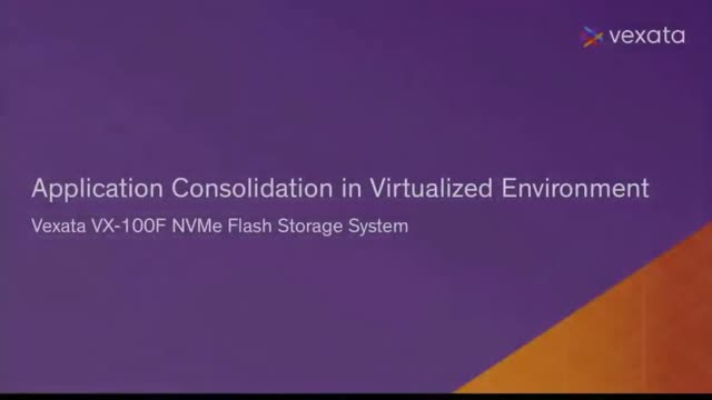 VM Consolidation with Vexata NVMe Storage Systems