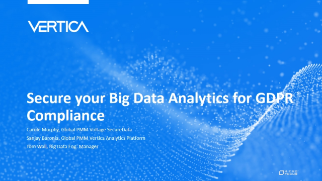 Secure your Big Data Analytics for GDPR Compliance