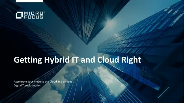 Getting Hybrid IT and Cloud Right