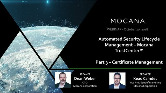 Automated Security Lifecycle Management – Mocana TrustCenter
