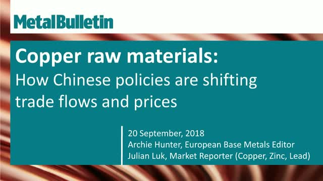 Copper raw materials: How Chinese policies are shifting trade flows and prices