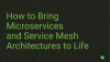 How to Bring Microservices and Service Mesh Architectures to Life