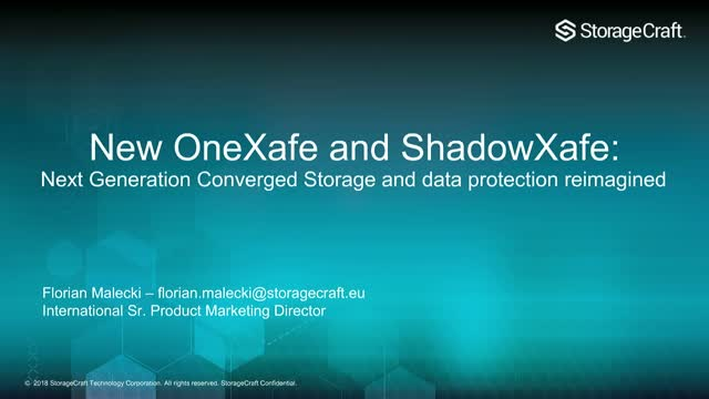 New OneXafe: next generation converged storage and data protection