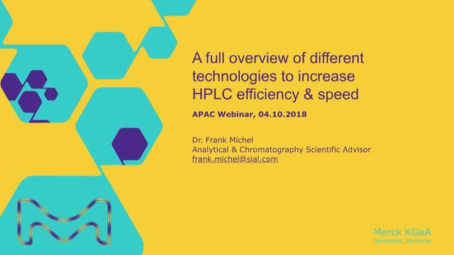 A full overview of different technologies to increase HPLC efficiency & speed